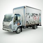 Isuzu NPR with Graffiti lowpoly 3d model 3d model