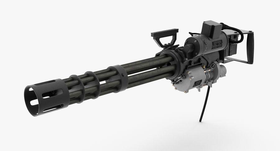 M134 Minigun Clean royalty-free 3d model - Preview no. 2