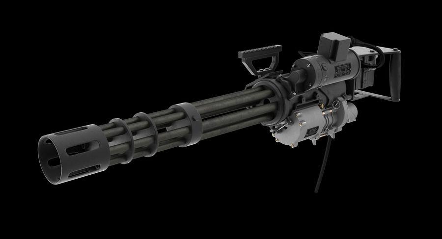 M134 Minigun Clean royalty-free 3d model - Preview no. 3