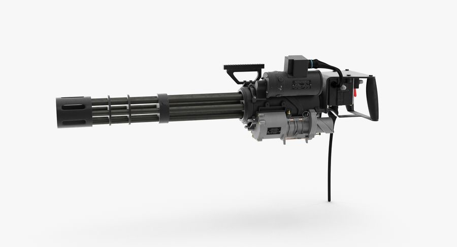 M134 Minigun Clean royalty-free 3d model - Preview no. 4