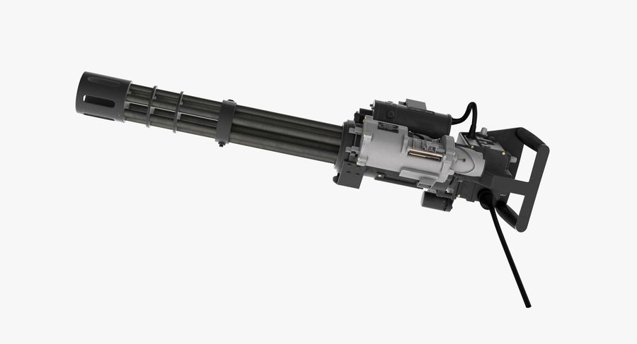 M134 Minigun Clean royalty-free 3d model - Preview no. 11