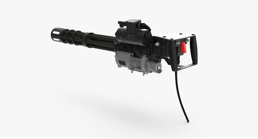 M134 Minigun Clean royalty-free 3d model - Preview no. 5