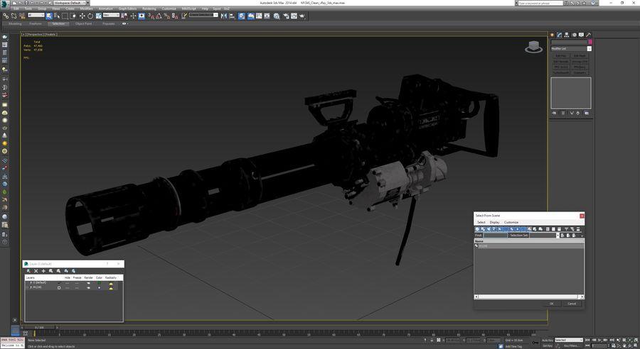 M134 Minigun Clean royalty-free 3d model - Preview no. 31