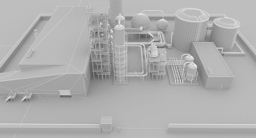 Usine royalty-free 3d model - Preview no. 15
