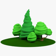 Árvores estilizadas 3d model