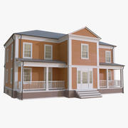 Colonial House 5 3d model