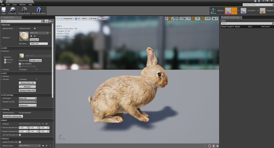 Animated Game Rabbit royalty-free 3d model - Preview no. 13