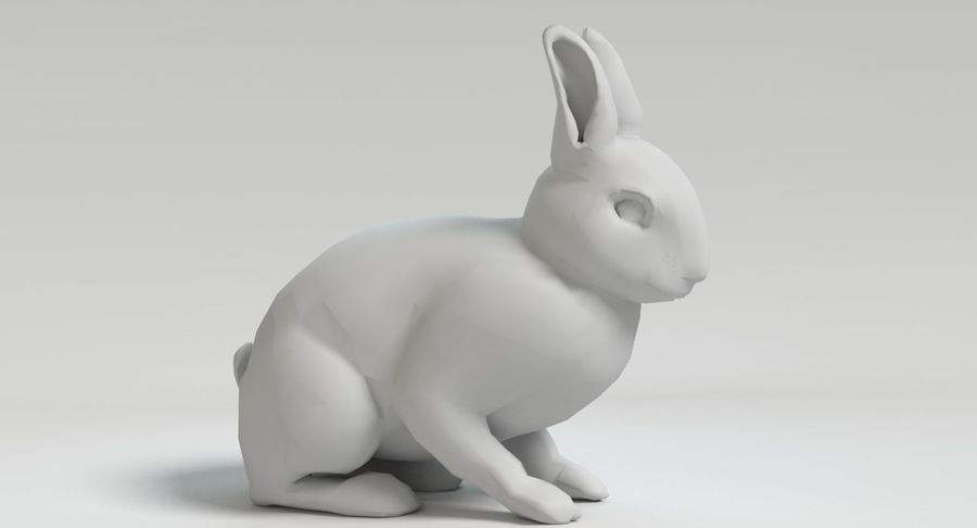 Animated Game Rabbit royalty-free 3d model - Preview no. 10
