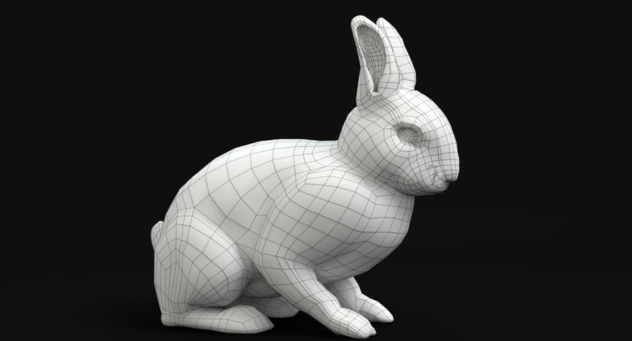 Animated Game Rabbit royalty-free 3d model - Preview no. 11