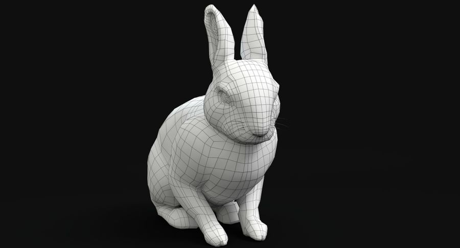 Animated Game Rabbit royalty-free 3d model - Preview no. 12