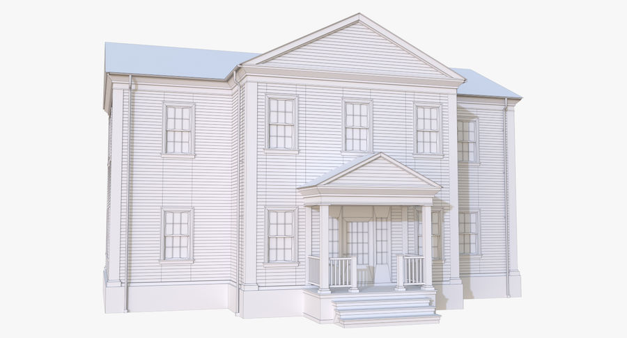 Colonial House 12 royalty-free 3d model - Preview no. 17