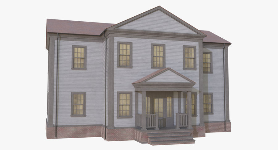 Colonial House 12 royalty-free 3d model - Preview no. 9