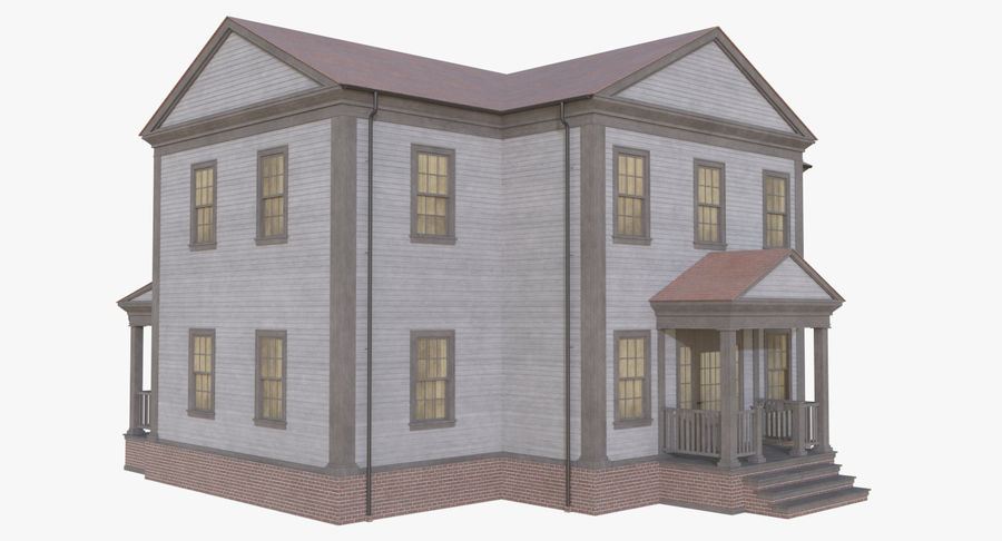 Colonial House 12 royalty-free 3d model - Preview no. 5