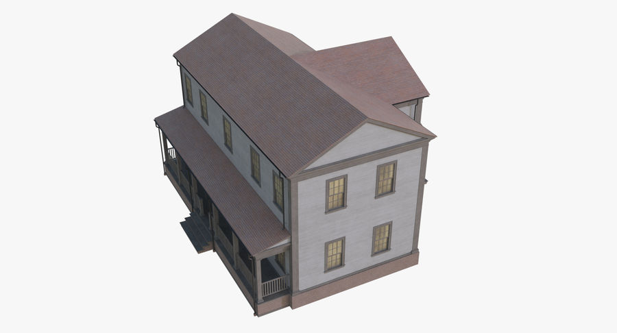 Colonial House 12 royalty-free 3d model - Preview no. 11