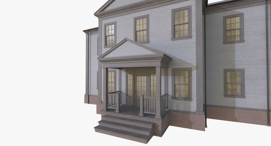 Colonial House 12 royalty-free 3d model - Preview no. 8