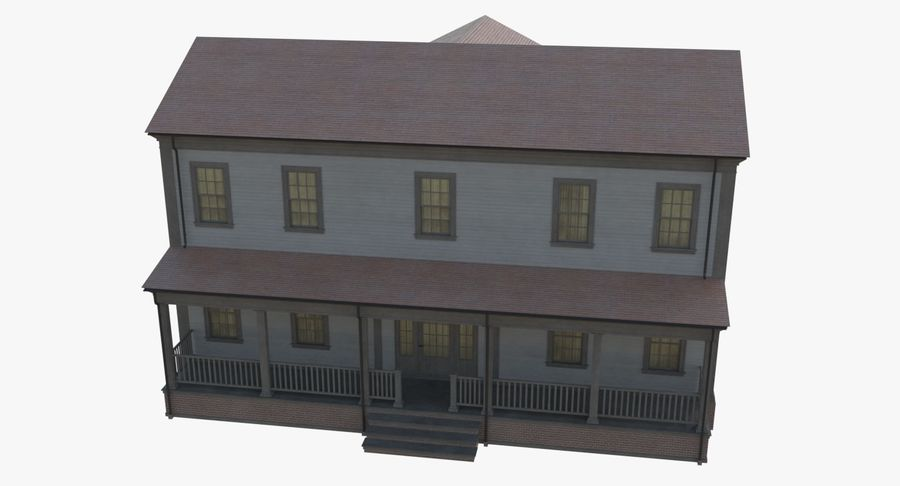 Colonial House 12 royalty-free 3d model - Preview no. 10