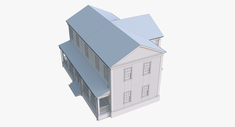 Colonial House 12 royalty-free 3d model - Preview no. 19