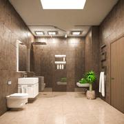 Baño moderno escena 2 modelo 3d