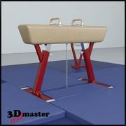 Gymnastik Pommel Horse Set 3d model