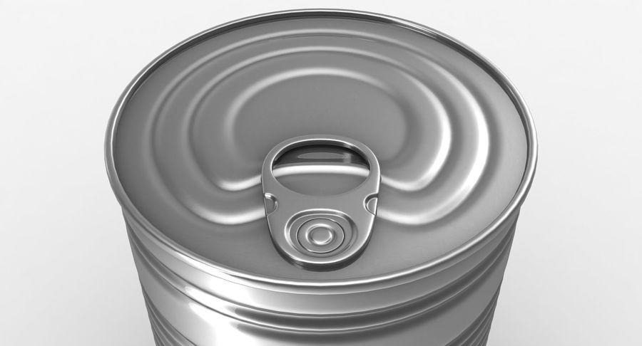 Tin Can royalty-free 3d model - Preview no. 8