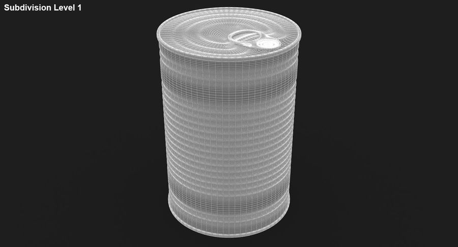 Tin Can royalty-free 3d model - Preview no. 19