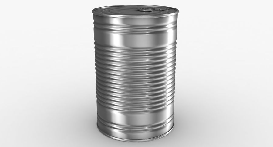 Tin Can royalty-free 3d model - Preview no. 5