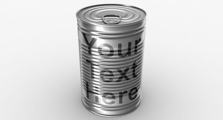 Tin Can royalty-free 3d model - Preview no. 9