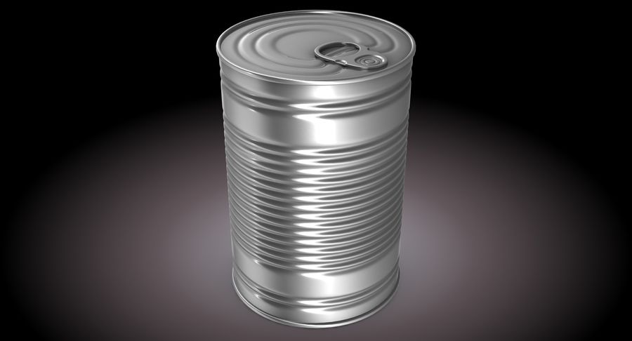 Tin Can royalty-free 3d model - Preview no. 3
