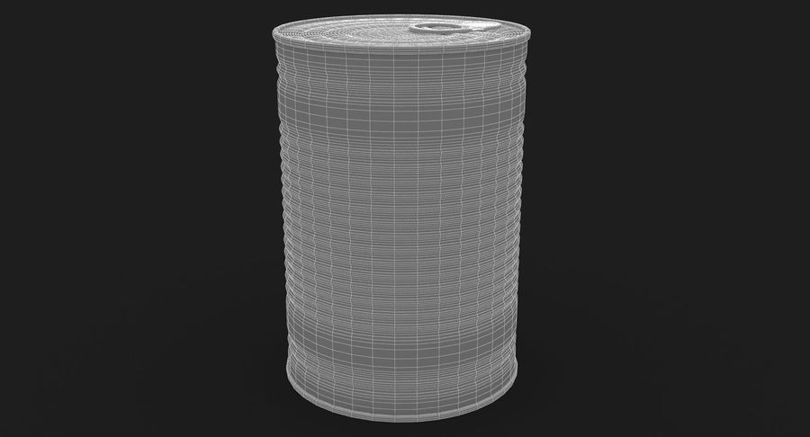 Tin Can royalty-free 3d model - Preview no. 14