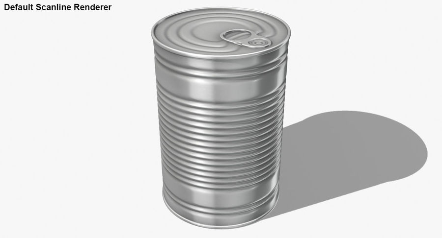 Tin Can royalty-free 3d model - Preview no. 20