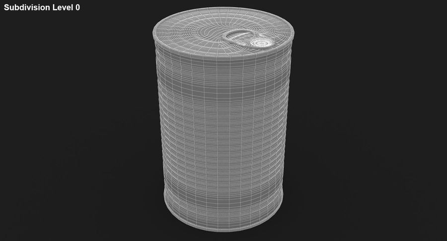 Tin Can royalty-free 3d model - Preview no. 18