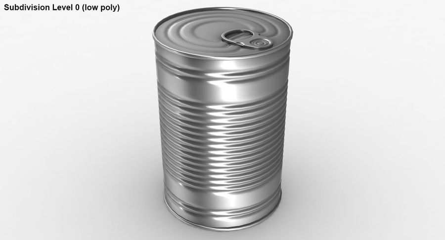 Tin Can royalty-free 3d model - Preview no. 17