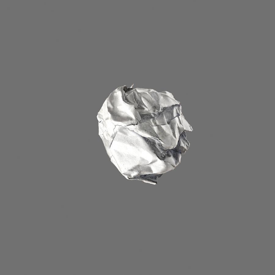 Realistic Crumpled Paper Ball 3D Model $29 -  max  obj  fbx