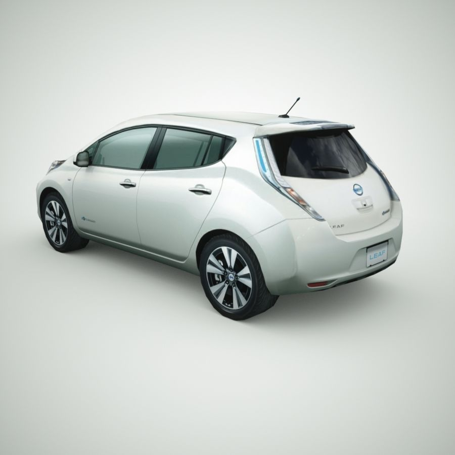 2013 Nissan  LEAF royalty-free 3d model - Preview no. 2