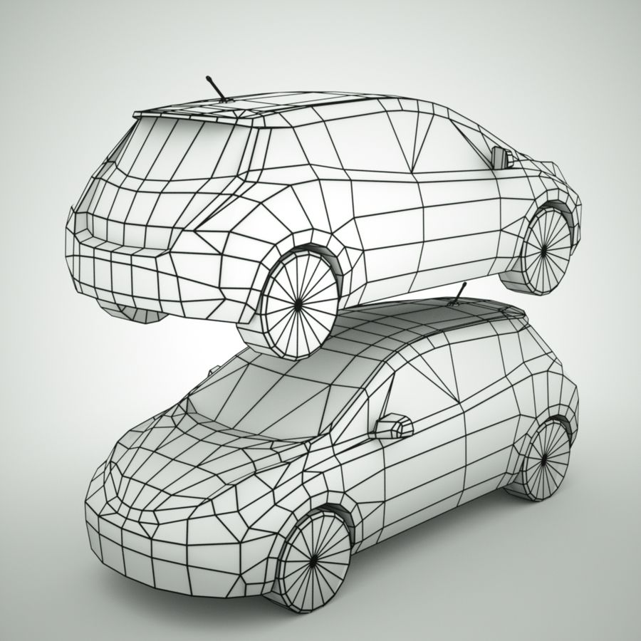 2013 Nissan  LEAF royalty-free 3d model - Preview no. 8