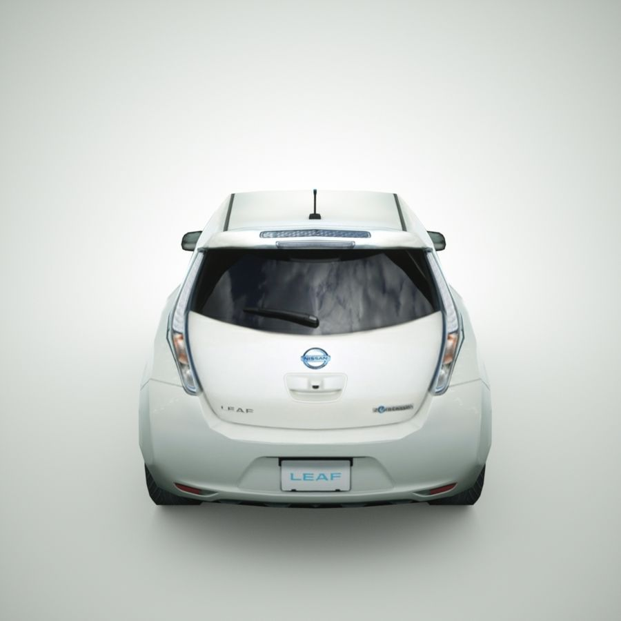 2013 Nissan  LEAF royalty-free 3d model - Preview no. 6