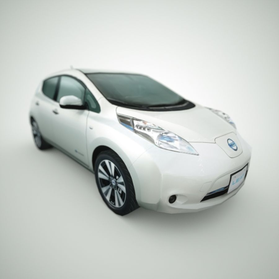 2013 Nissan  LEAF royalty-free 3d model - Preview no. 7