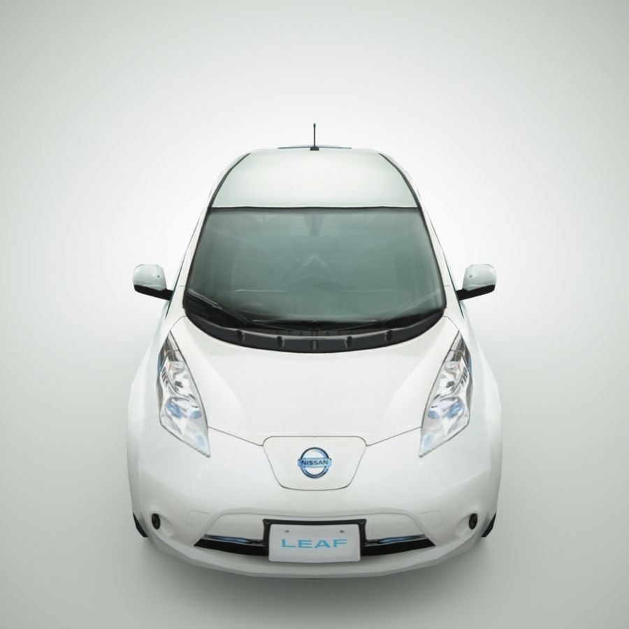 2013 Nissan  LEAF royalty-free 3d model - Preview no. 5