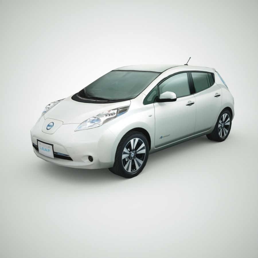 2013 Nissan  LEAF royalty-free 3d model - Preview no. 1