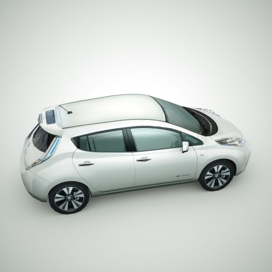 2013 Nissan  LEAF royalty-free 3d model - Preview no. 4