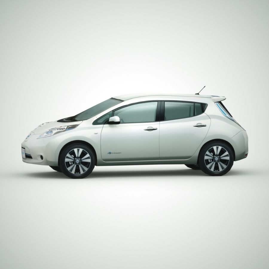 2013 Nissan  LEAF royalty-free 3d model - Preview no. 3
