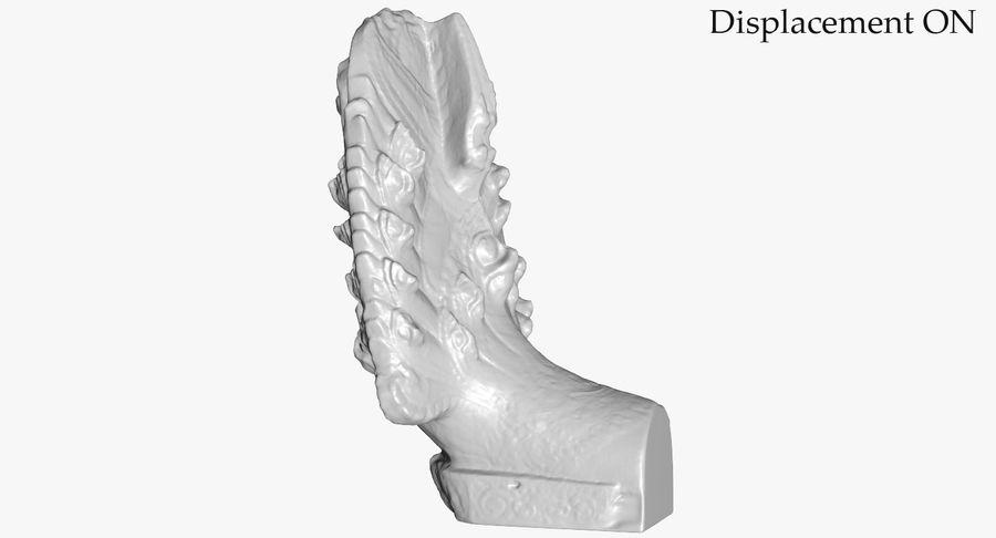 Rzeźba Ankor Wat Snake royalty-free 3d model - Preview no. 37