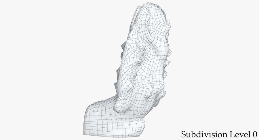Rzeźba Ankor Wat Snake royalty-free 3d model - Preview no. 14
