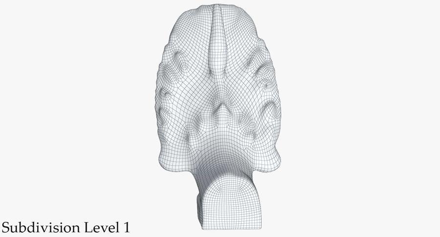 Rzeźba Ankor Wat Snake royalty-free 3d model - Preview no. 27