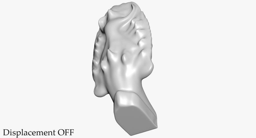 Rzeźba Ankor Wat Snake royalty-free 3d model - Preview no. 40