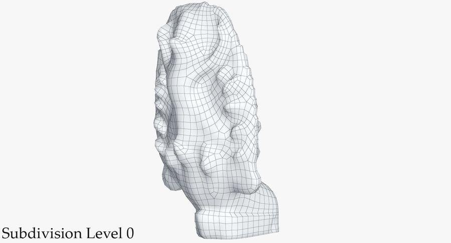 Rzeźba Ankor Wat Snake royalty-free 3d model - Preview no. 22