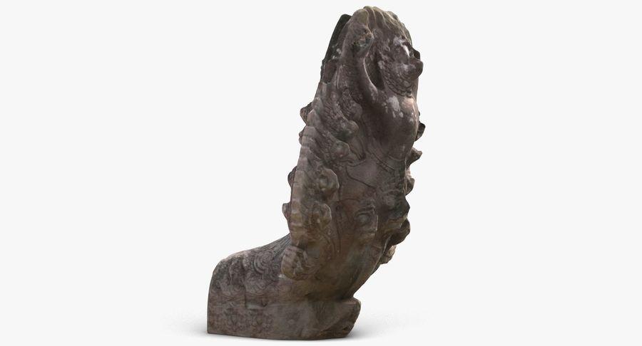 Rzeźba Ankor Wat Snake royalty-free 3d model - Preview no. 3