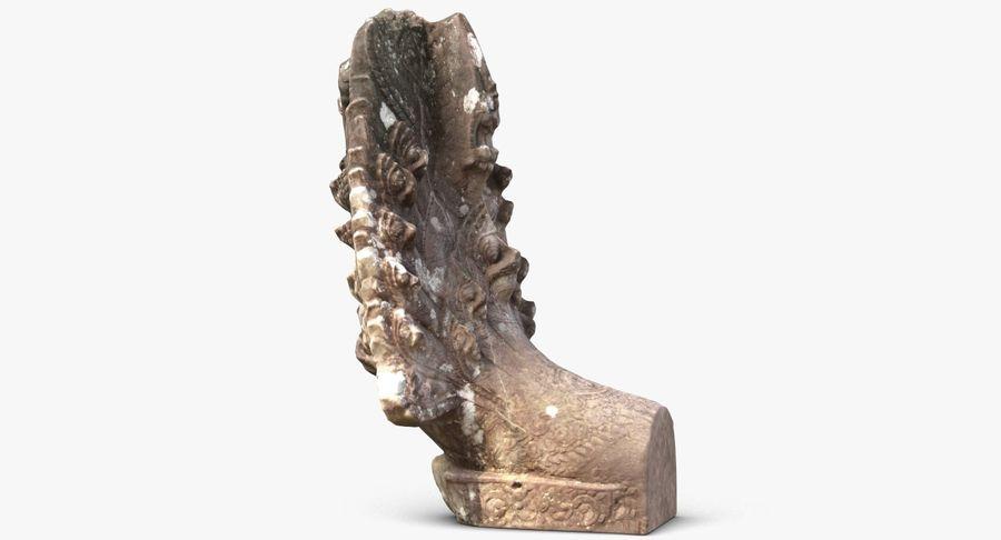 Rzeźba Ankor Wat Snake royalty-free 3d model - Preview no. 6