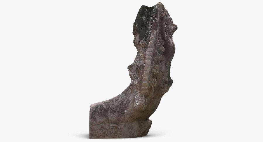 Rzeźba Ankor Wat Snake royalty-free 3d model - Preview no. 4