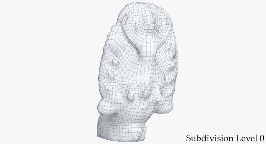 Rzeźba Ankor Wat Snake royalty-free 3d model - Preview no. 12